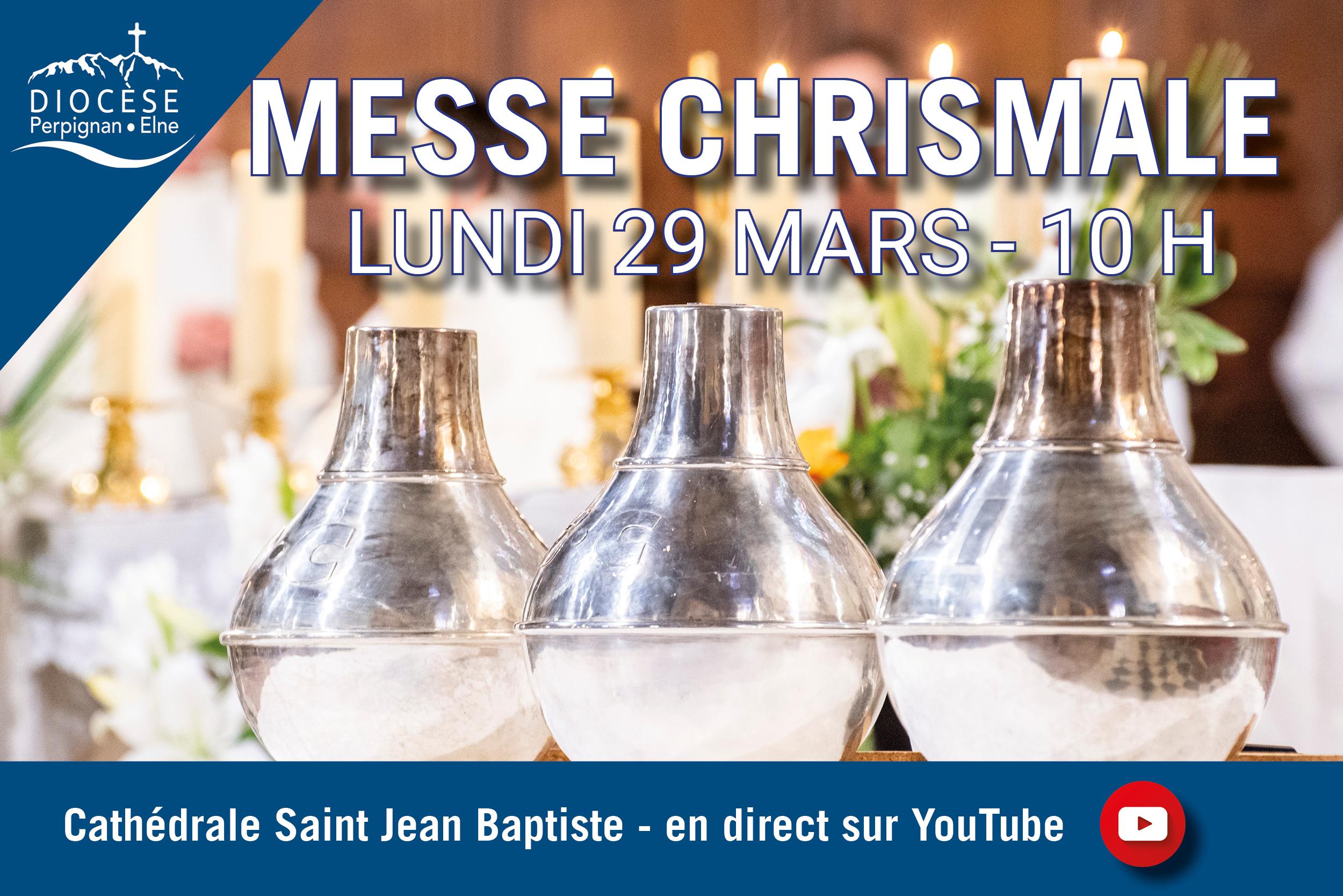 Suivez en direct la messe Chrismale à 10 h sur YouTube ce lundi
