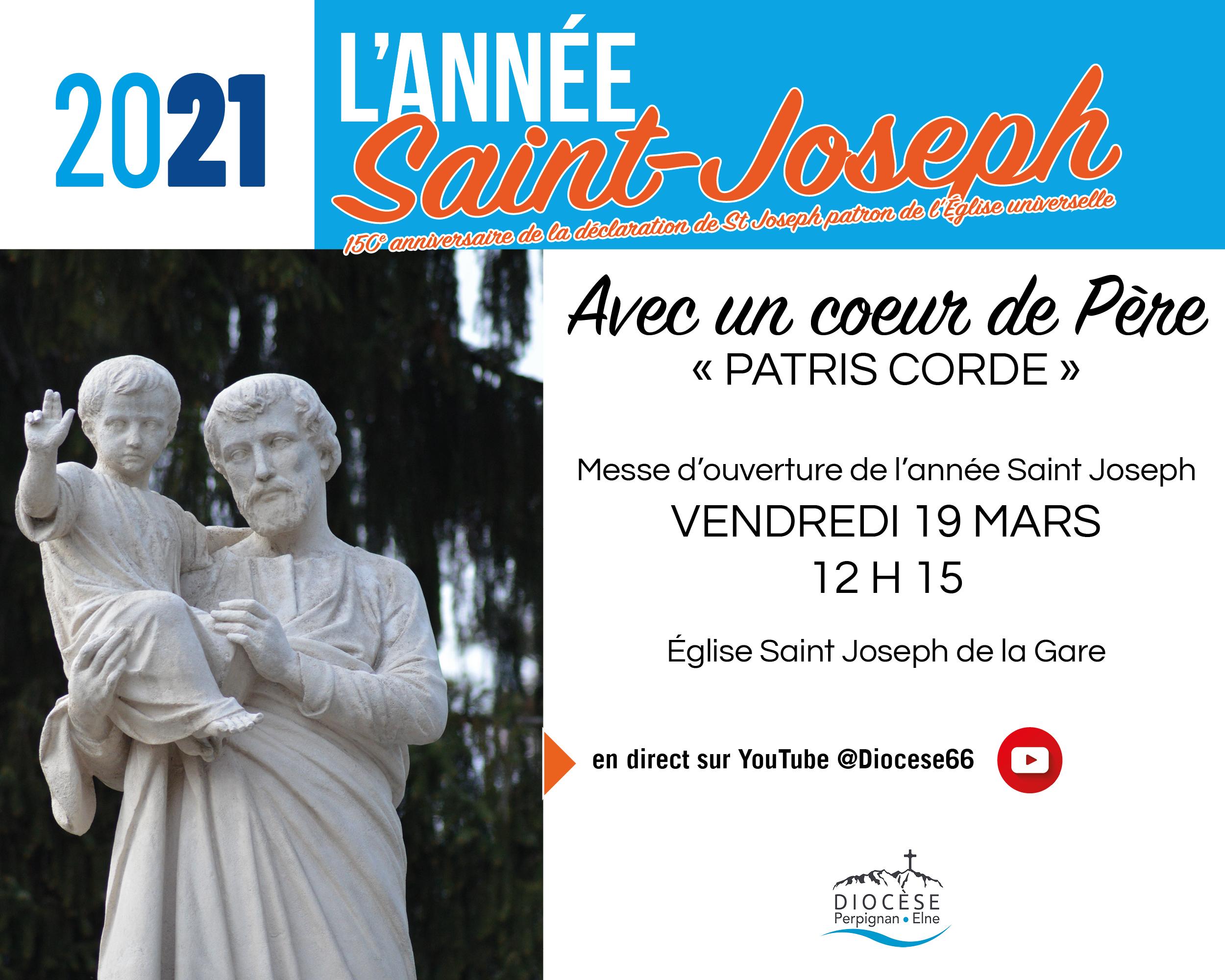 Année St Joseph : La messe d'ouverture en direct le 19 Mars à 12 h 15