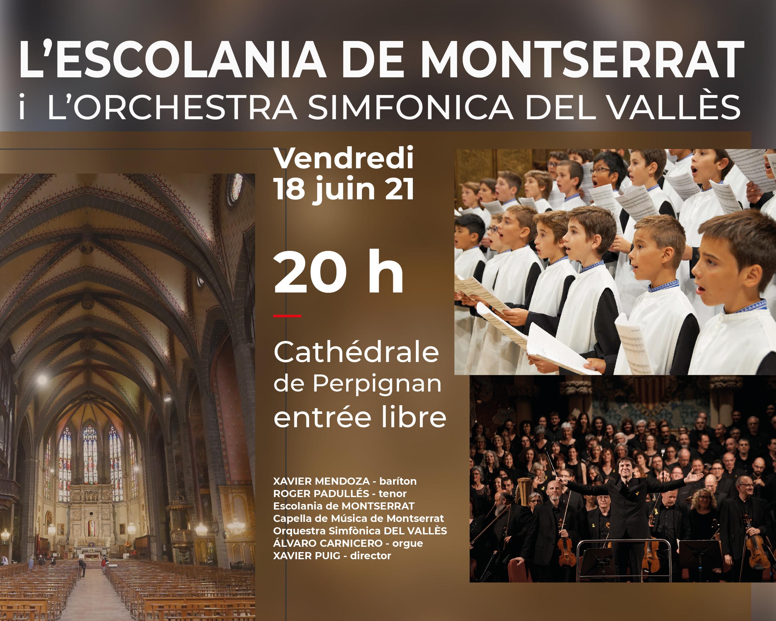 18 juin : Concert exceptionnel de l'Escolania de Montserrat à la Cathédrale de Perpignan