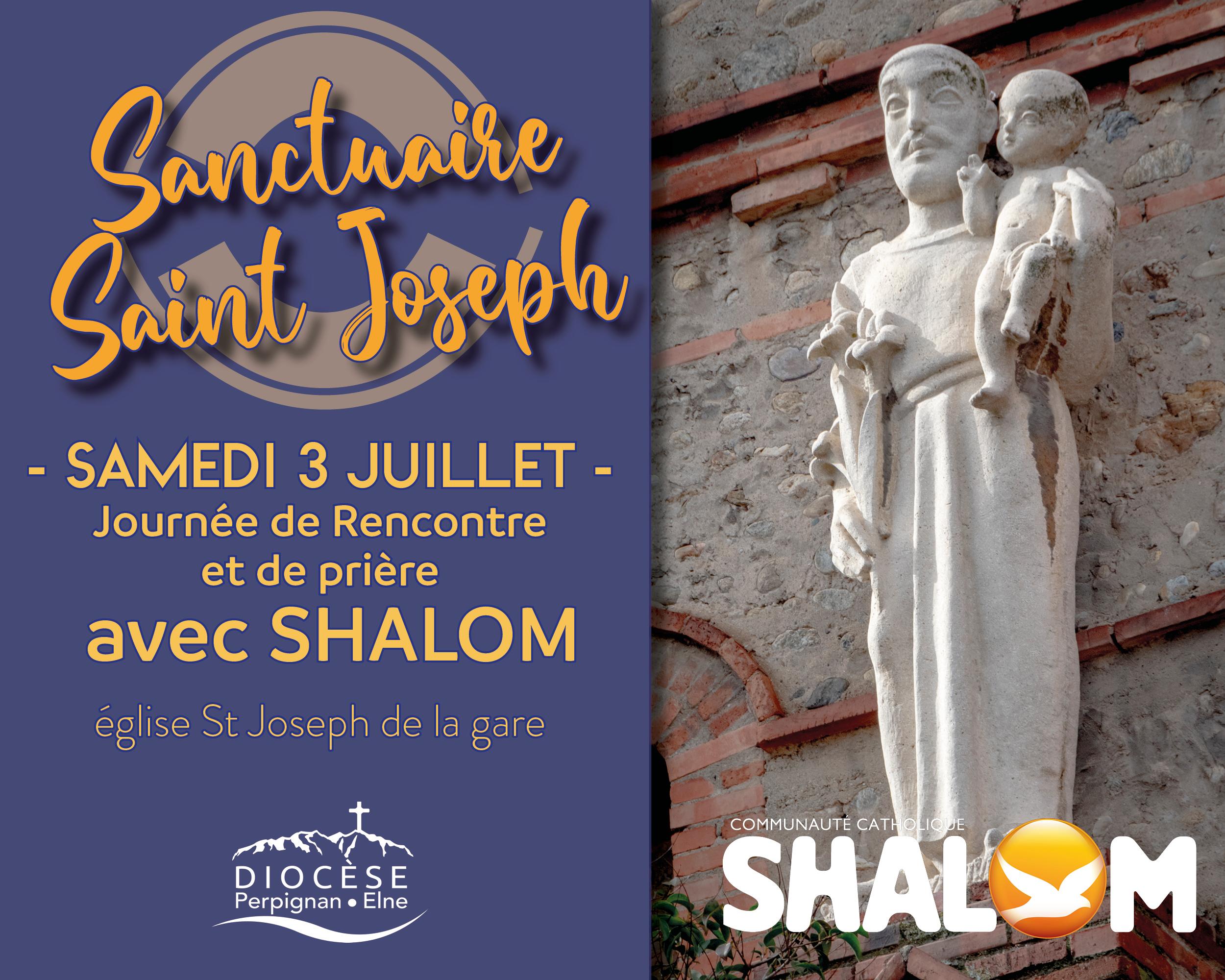Sanctuaire St Joseph : journée de rencontre avec la Cté Shalom à l'église St Joseph de la gare le 3 juillet