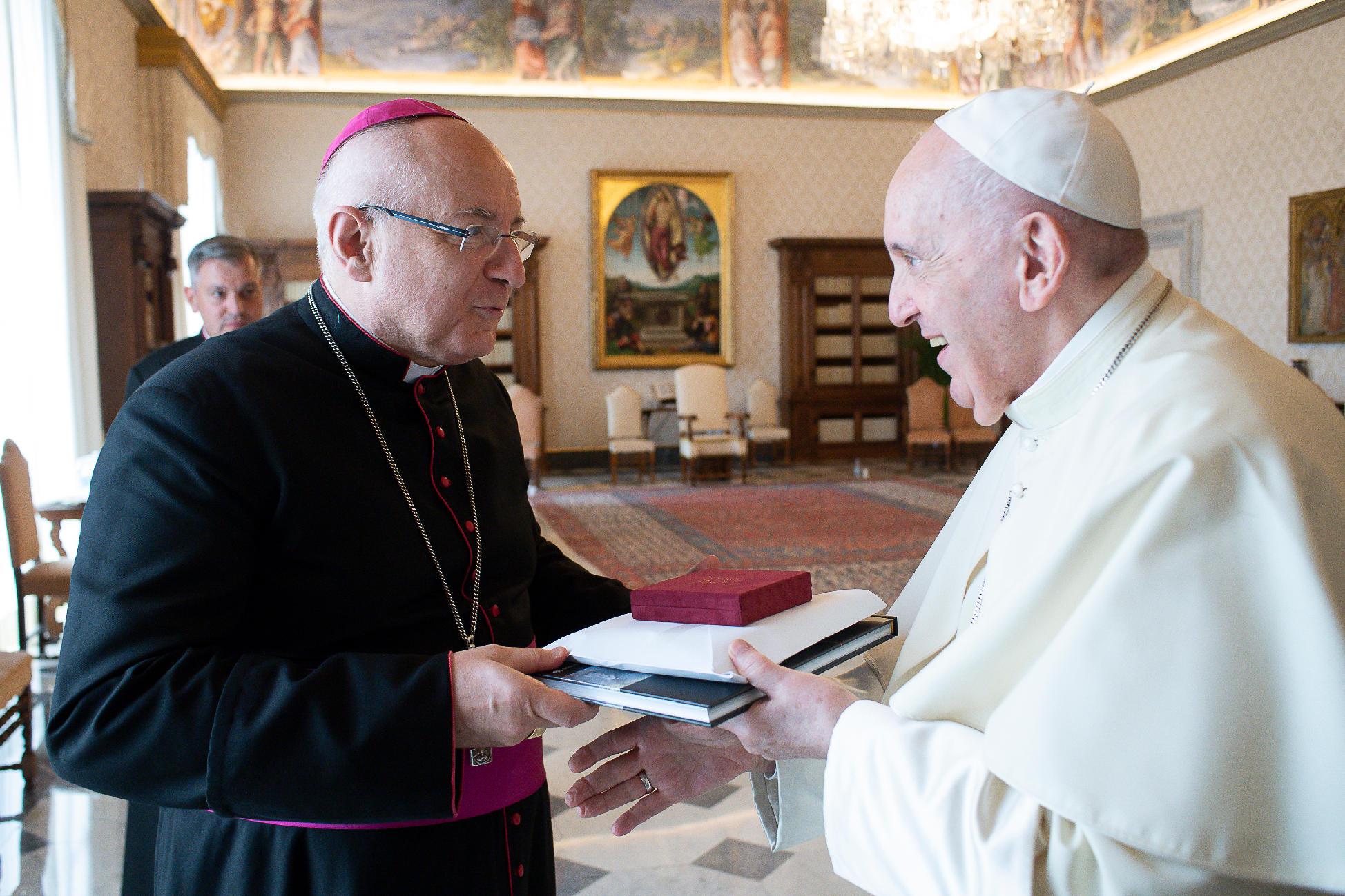 Monseigneur Turini a rencontré le Pape François à Rome