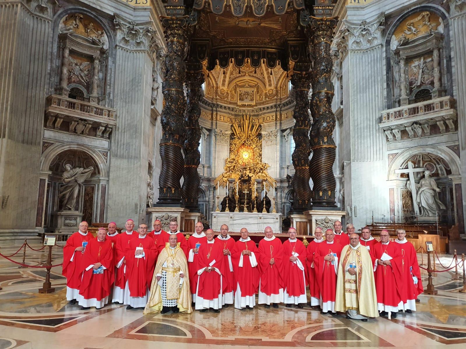 Notre évêque Mgr Turini en visite pour voir le Pape à Rome
